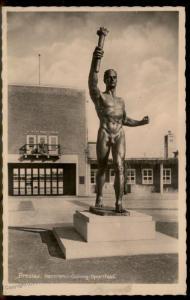 3rd Reich Breslau 1938 Gymnastics Hermann Goering Sportfeld RPPC 91447