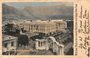South Africa Parliament House Table Mountain Cape Town Postcard