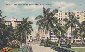 Florida Miami View Of Flagler Street From Bayfront Park