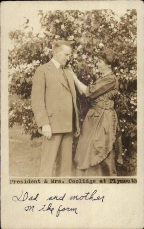 President Coolidge & Wife 'Dad & Mother on Farm' Written by Their Children? RP