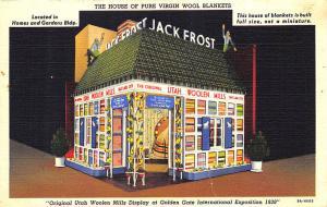 Golden Gate Expo Jack Frost Utah Woolen Mills Linen Curt Teich Postcard
