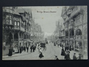 Cheshire CHESTER Bridge Street - Old Postcard by R.B. Ltd L