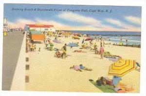 Beach, Boardwalk, Cape May, New Jersey, 30-40s