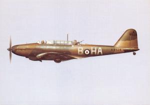 Postcard NEW Fairey Battle RAF Aircraft No.218 Squadron