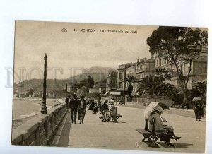 235599 FRANCE MENTON Promenade du Midi Vintage postcard
