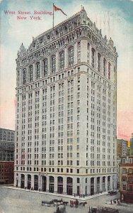 West Street Building, New York, N.Y., Early Postcard, Used in 1915