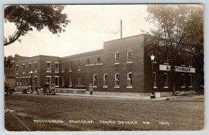 Prairie du Chien Wisconsin~Rosencrans Sanitarium Company Delivery Car~1916 RPPC