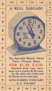The splendid mental alarm clock octagon shape Clock, Watch Unused