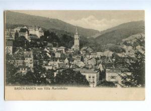 151752 GERMANY BADEN-BADEN von Villa Marienhohe Vintage PC