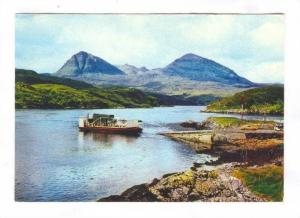 Kylesku Ferry Boat & Quinag, Sutherland, Scotland 50-70s
