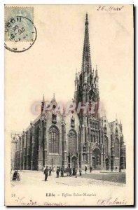 Postcard Old Lille Eglise Saint Maurice