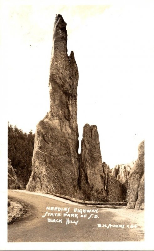 South Dakota Black Hills Needles Highway Real Photo