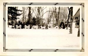 NH - Whitefield. Winter Carnival. Ice Dogs on the Common made by George Pills...