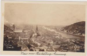 View over HEIDELBERG, Germany, 1920s
