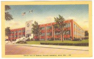 Exterior view of Goodyear Research Laboratory,  Akron, Ohio,  30-40s