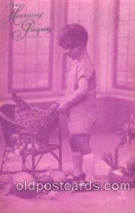 Boy abd chicken Children, Child, Unused