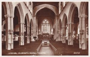 RP, Interior, St. Peter's Church, Tiverton, Devon, England, UK, 1920-1940s