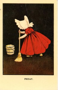 Sunbonnet Girl - Friday.  ***Reproduction***