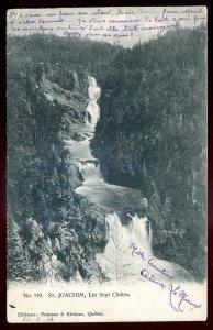 dc716 - ST. JOACHIM Quebec Postcard 1906 Les Sept Chutes