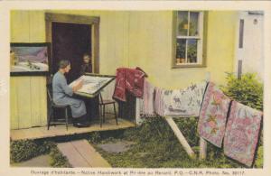 RENARD, Quebec, Canada, 1900-1910's; Ouvrage D'Habitante, Native Handiwork At...