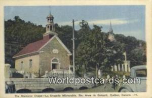 Ste Anne De Beaupre, Que Canada, du Canada Memorial Chapel, La Chapelle Memor...