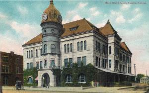 TOPEKA, Kansas  KS    ROCK ISLAND DEPOT  Railroad Station  ca 1910s    Postcard