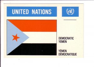 Democratic Yemen Flag, United Nations