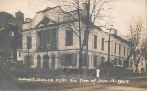 LPS53 Lebanonn Pennsylvania Court House after 1908 Fire Postcard RPPC