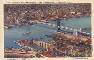 Delaware River Bridge connecting Philadelphia, Pennsylvania and Camden, New J...