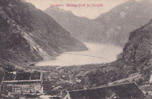 Sondmor Geirangerfjord Norway Old Postcard