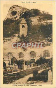 Old Postcard Haute Isle S and O taillee The Church in the rock