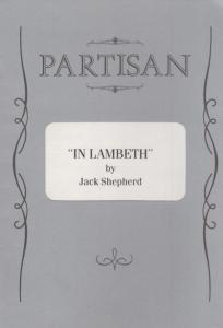 In Lambeth Jack Shepherd Drama Partisan Michael Maloney Bob Peck Theatre Prog...