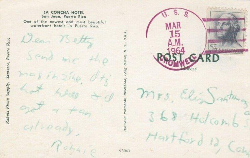 SAN JUAN, Puerto Rico, 1964 ; La Concha Hotel