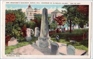 Gov Bradford's Monument, Burial Hill, Plymouth MA