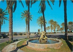 Libya Postcard the Gazelle fountain Tripoli