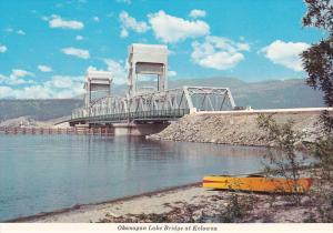 Okanagan Lake Bridge at KELOWNA , B.C., Canada , 60-80s