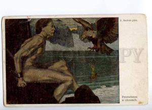234512 NUDE Prometheus EAGLE by SZAFRAN Vintage ART NOUVEAU PC
