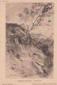 Federico Baroccio Landscape Antique Old Painting British Museum Postcard