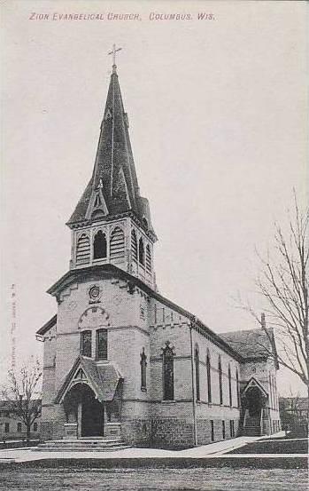 Wisconsin Columbus Zion Evangelical Church