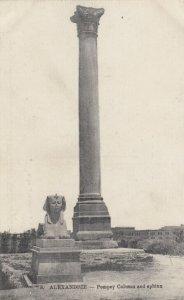 Alexandria, Egypt, 1907 ; Pompey Column & Sphinx