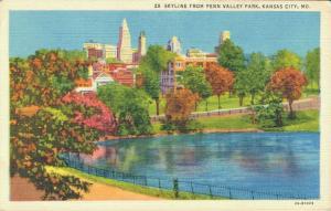 USA Skyline From Penn Valley Park Kansas City Mo 02.66
