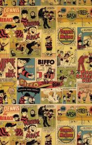 Postcard The Beano Comic Classic Collage Art Pattern