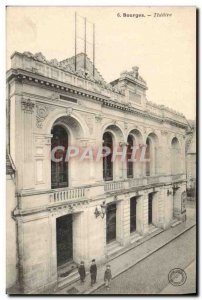 Old Postcard Bourges Theater