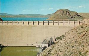Truth or Consequences New Mexico~Closeup of Elephant Butte Dam~1960s Postcard