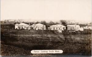 Paeroa NZ New Zealand Looking South West J&W Harp Real Photo Postcard E56