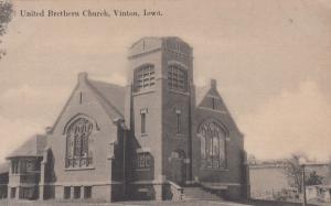 VINTON , Iowa, 1900-1910's; United Brethan Church