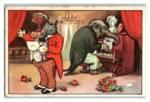 A Thick Legged Duet, Funny Animals, Echte Wagner German Trade Card *VT31R