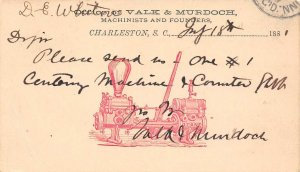 LP54  Charleston South Carolina  Valk Murdoch Machine Co. Postcard size 3 x 51/4