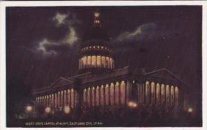 State Capitol Building At Night Salt Lake City Utah