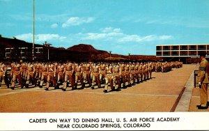 Colorado Colorado Springs Cadets On Way To Dining Hall U S Air Force Academy